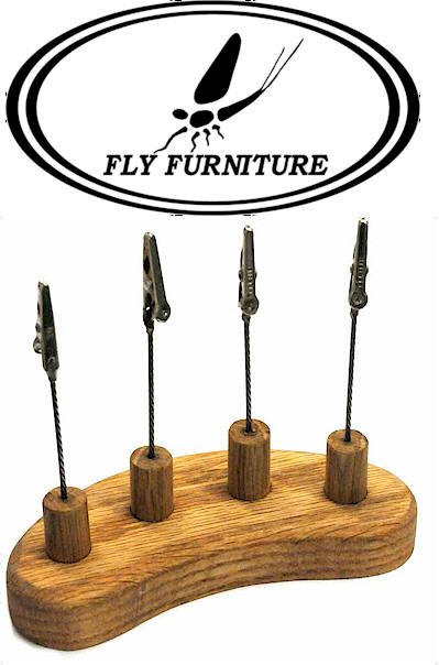 New ! Hareline Dubbin' Fly Alligator Clip Fly Display