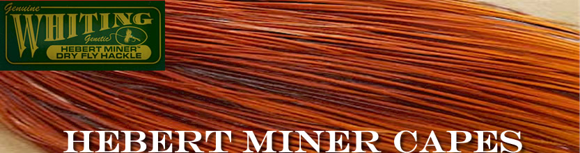 Whiting Farms Hebert Miner Rooster Capes For Fly Tying